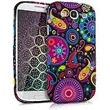 kwmobile Silikon Hülle Case für Samsung Galaxy S3 / S3 Neo mit Hippiemuster Design - Handy Cover Schutzhülle in Mehrfarbig Pink Schwarz