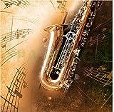 Sticker Boite aux lettres Saxophone 30X30cm SABL025