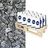 Hamann Mercatus GmbH Halbe Palette Schiefersplitt Canadian Slate Schwarz 30-60 mm 20x25 kg Sack