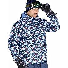Outdoor caldo gli amanti dello sci in inverno freddo abbigliamento antivento impermeabili abbigliamento (Stampa Trapuntato Borsa)