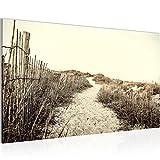 Bild 70 x 40 cm - Strand Bilder- Vlies Leinwand - Deko für Wohnzimmer -Wandbild - XXL Teile - leichtes Aufhängen- 804514c