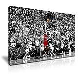 Michael Jordan Toile Le tir gagnant Art mural moderne 76x 50cm