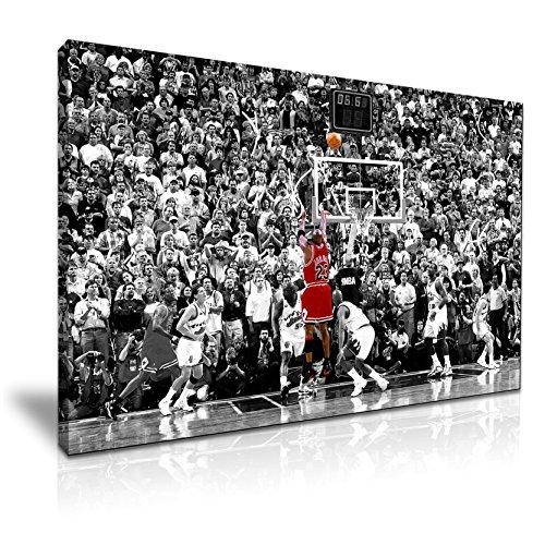 Michael Jordan ganador foto lienzo pared Moderno Arte