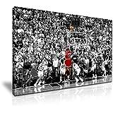 Michael Jordan den Winning Shot Leinwand modernes Wandtattoo Art 76x 50cm