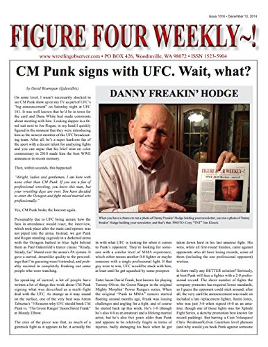 Figure Four Weekly #1016, Dec 12, 2014: CM Punk signs with UFC (English Edition)