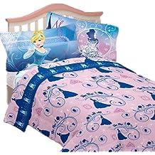 3pc Disney Cenicienta doble cama juego de sábanas secreto princesa ropa de cama accesorios