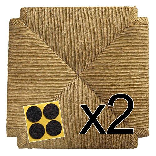 Fondelli in paglia 40x40 (mod. 117 zf) [set di due] + feltrini in omaggio