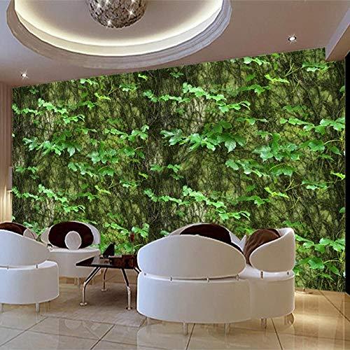 Vine Grafiken (Benutzerdefinierte 3D Fototapete Green Leaf Klettern Tiger Vine Abstrakte Kunst Wandmalerei Hintergrund Decor Wandbild Tapete Wandtattoos @ 430 * 300 cm)