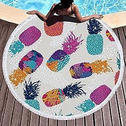 yeahracing rger playa paños, toalla de sauna de lujo Clase, Exquisit Piña redondas boho–Esterilla de yoga alfombra tapiz Toalla Toalla fina, absorbente, para exterior Playa, ocio, picnic 150cm