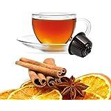 Kickkick Tisana Arancia e Cannella Compatibili Nescafe Dolce Gusto - Infuso in Cialde - 32 Capsule