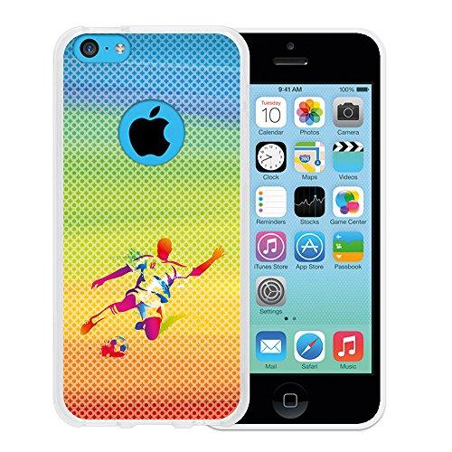 iPhone 5C Hülle, WoowCase Handyhülle Silikon für [ iPhone 5C ] Basketball Handytasche Handy Cover Case Schutzhülle Flexible TPU - Transparent Housse Gel iPhone 5C Transparent D0504