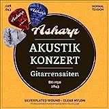 Asharp Corde per chitarra classica – Corde in nylon di prima classe Set SILVER con super suono e di alta qualità per concerti classici e chitarre acustiche