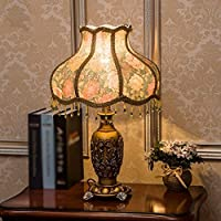 ZYCkeji Zart Tischlampe American Country Schlafzimmer Studie Wohnzimmer Nachttischlampe Dekorative Tischlampe... - preisvergleich