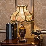 ZYCkeji Zart Tischlampe American Country Schlafzimmer Studie Wohnzimmer Nachttischlampe Dekorative Tischlampe Originalität (Farbe: B)
