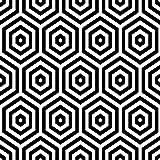 murando - Vlies Tapete optische Täuschung - Deko Panel Fototapete - Wandtapete - Wand Deko - 10 m Tapetenrolle - Mustertapete - Wandtapete - modern design - Dekoration – Illusion schwarz weiß f-B-0204-j-a