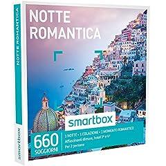 Idea Regalo - SMARTBOX - Cofanetto Regalo - NOTTE ROMANTICA - 660 soggiorni in dimore, hotel 3* e 4*