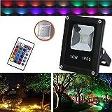 Hengda® LED 10W RGB Fluter Flutlicht Aussen Scheinwerfer Wasserdicht Strahler IP65 mit Fembedienung