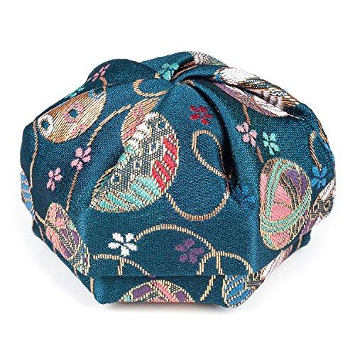 Florale Bleue Boîte à Bijoux Japonaise Traditionnelle
