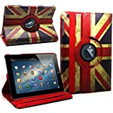 DN-TECHNOLOGY� RETRO UNION JACK NEW HIGH QUALITY PROTECTIVE CASE COVER FOR APPLE IPAD 2ND/3RD/4TH Generation& Stylus