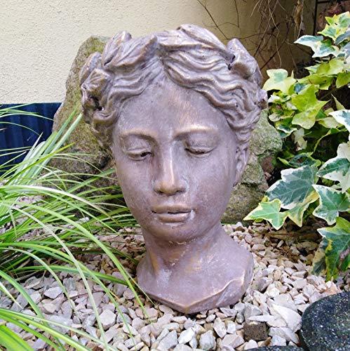 Radami Büste Pflanzbüste Gartenfigur Pflanztopf Pflanzschale Blumentopf Übertopf Bronze