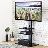 FITÜEYES Floor Cantilever TV Stand with Swivel Bracket for 32 to 65 inch LCD LED Curved TVs