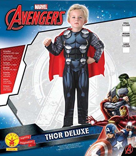 Imagen de avengers  disfraz thor deluxe infantil, s rubie's spain 610736 s  alternativa
