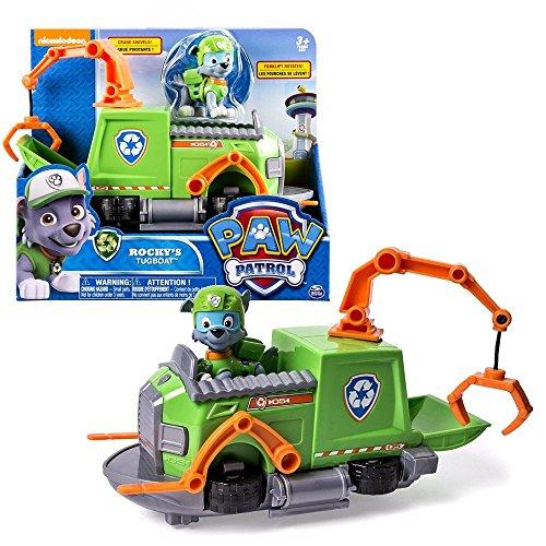 Paw Patrol - Fahrzeuge mit beweglichen Spielfiguren zur Auswahl, Figur:Rocky Tugboat