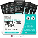 Teeth Whitening Strips with Activated Charcoal | 28 Peroxide Free Teeth Whitening Strips (14 Upper + 14 Lower) | Fast-Acting Teeth Whitening Kit Formulated by UK Dentists for Pro Teeth Whitening Co. ®
