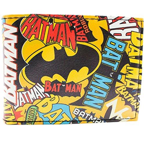 Cartera de DC Comics Batman Estilo Etiqueta Amarillo