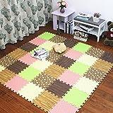 Alfombra de piso de espuma Dormitorio Bebé Niños Tatami verde Puzzle mosaico...