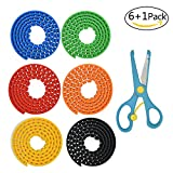 Lynlon Bausteine Klebeband für LEGO [ 6 Pack + Schere ] Block Tape , Selbstklebendes und Wiederverwendbare, Flexibel, Biegsam Silikon für Lego, Tyco, Mega Bloks, Nimuno etc