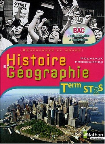 Histoire et Gographie Tle ST2S : Nouveaux programmes, nouvelles preuves (1CD audio) de Colombel, Yves (2008) Broch