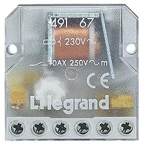 Legrand LEG49167 Télérupteur 2p 10 AX 250 V intensité absorbée 0,04 A