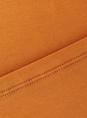 oodji Collection Femme Débardeur Basique Orange (5900N)