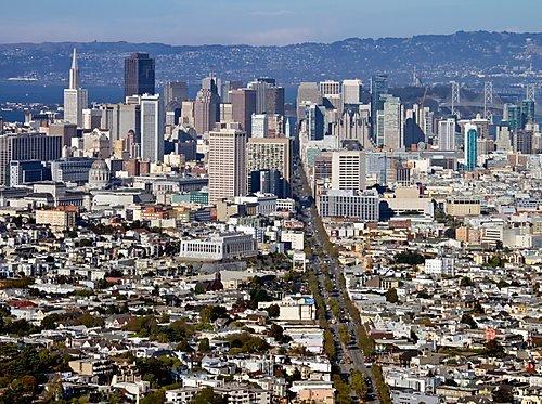 SAN FRANCISCO Aussicht von Twin Peaks 2000 Teile Puzzle quer