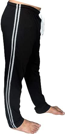 Bahob® Mens Long Lounge Wear Pants Nightwear 1 & 2 Pack Pyjama Bottoms Sleepwear Elasticated Waist Striped Jogging Casual Gym Lightweight Loungewear Mens Lounge Pants Sizes S-2XL