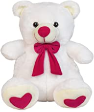 Ultra Spongy Teddy Bear Soft Toy Gifts, White (15-inch)