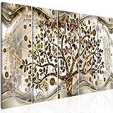 murando - Quadro Albero Klimt 200x80 cm - 5 parti - Quadro su fliselina - Stampa in qualita fotografica - Abstrait l-C-0005-b-n