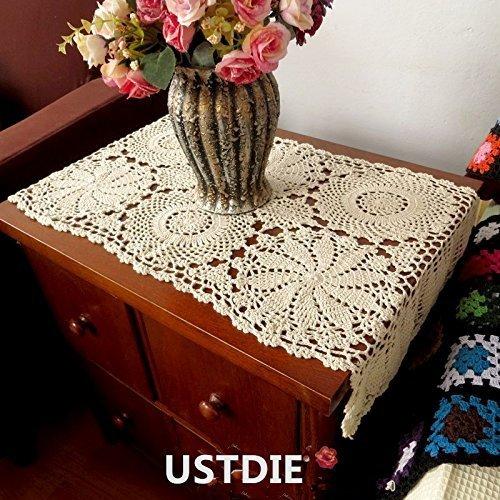Ustide - Camino mesa rectangular encaje ganchillo