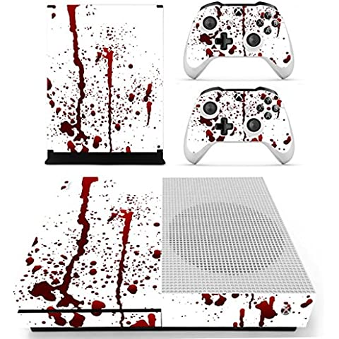 DOTBUY Vinile modello skin sticker decalcomanie della pelle per Xbox One S Console & Wireless Controller (Blood)