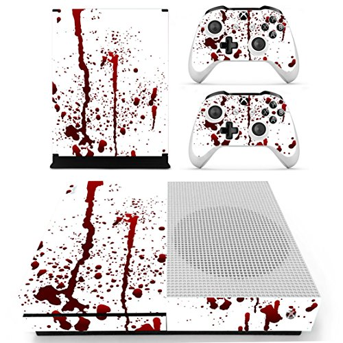 DOTBUY Xbox One S Autocollant Console Decal Vinyl Skin Sticker + 2 Autocollant Manette + 1 autocollant Kinect Set (Blood)