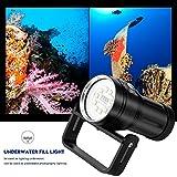 Tauchen Taschenlampe Unterwasser Professionelle Video-Fotografie mit Griff Handle Outdoor Spor