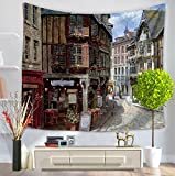 GT Tapestry, Creativity, Europe and America, Street, Wall Hanging Tapestry, Hippie Tapestries, Print Tapestry, Cotton Handmade Tapestry, Twin Size Bedding Bedspread Picnic Beach Sheet, Table Cloth, Decorative Wall Hanging, 150*130CM