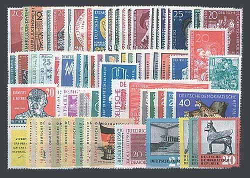 Goldhahn DDR Jahrgang 1959 postfrisch komplett Briefmarken für Sammler