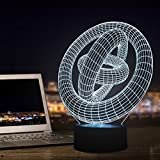 3D Illusion Night Light, Ring Modern LED Table Desk Lamps,7 Color Changing Night lights Touch Control Rooms Bedrooms Decoration Lighting for Kids Birthday Holiday Christmas Gifts