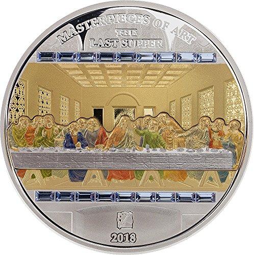Silber 20 Dollar (LAST SUPPER Das letzte Abendmahl Masterpieces of Art 3 Oz Silber Münze 20$ 25$ Cook Islands 2018)