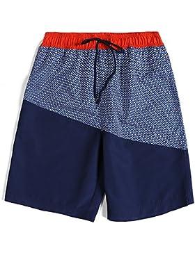 Zgsjbmh Cool Sports Shorts Pantalones de Playa de Secado Rápido Sueltos y Cómodos Hombres Verano (Color : Royal...