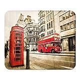 Alfombrilla de ratón Pasión Viajes Ciudad teléfono autobuses rojos Londres Mousepad