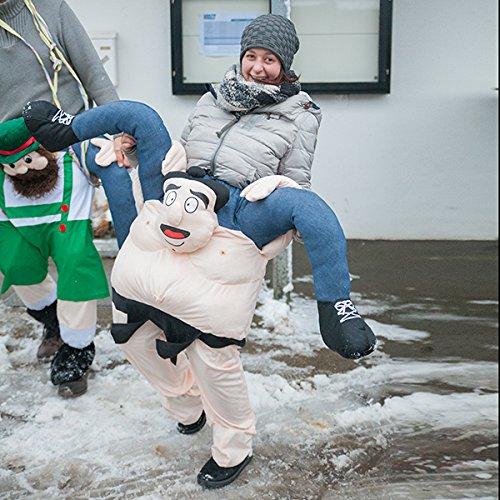 e Kostüm Sumo Ringer Huckepack Karneval Faschingkostüm (Aufblasbare Maskottchen Kostüme)