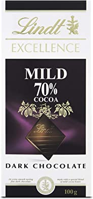 Lindt Excellence Dark 70% Mild Chocolate, 100 gm (Pack of 1)